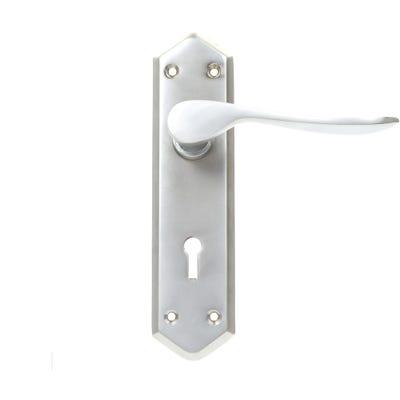 Dale Calver Door Handle in Satin Nickel