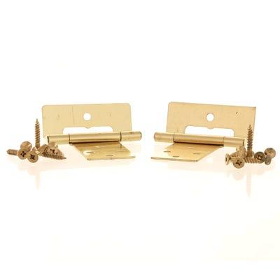 Cranked Flush Hinge Plated 50mm Plain Brass