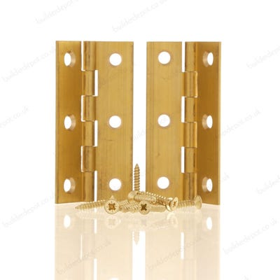 Butt Hinge 63mm Plain Brass