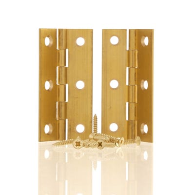 Butt Hinge 75mm Solid Brass