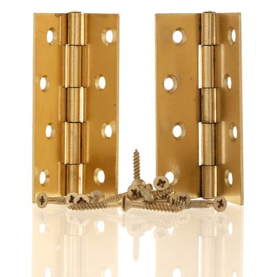 Butt Hinge 100mm Plain Brass