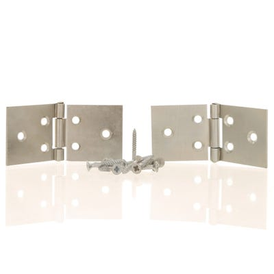Back Flap Hinge 38mm Bright Zinc
