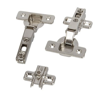 Concealed Sprung Cabinet Hinges 90° 25mm Pack of 2