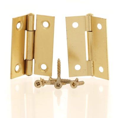 Butt Hinge 50mm Plain Brass