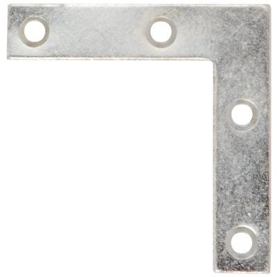 Corner Plates 100mm x 100mm x 18mm Bright Zinc Pack of 6