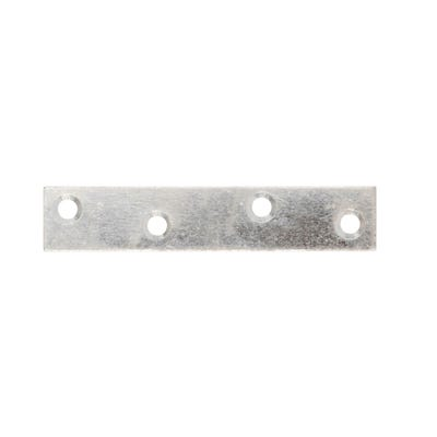 Straight Mending Plates 125mm x 18mm Bright Zinc Plate Pack of 4