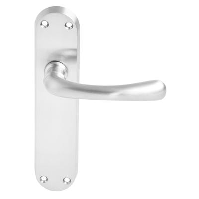 Dale Clara Door Handle in Satin Nickel