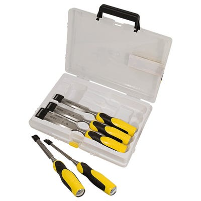Stanley Dynagrip 5 Piece Chisel Set With Strike Caps