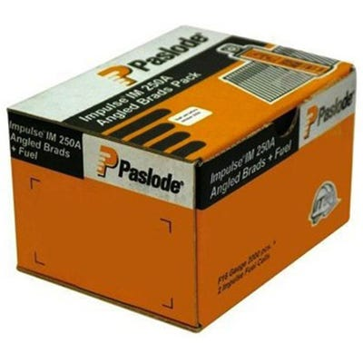 Paslode 63mm Galvanised Angled Brads & Fuel Pack of 2000