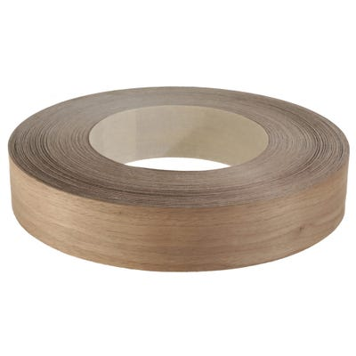 50mm Walnut Iron On Edging Tape 50m