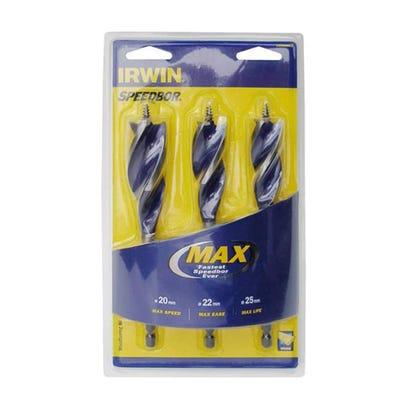 Irwin 3 Piece Auger Bit Set 20-25mm