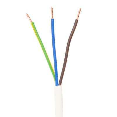 2.5mm 3 Core Flex Cable White 50m Drum 3183Y