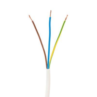 1.5mm 3 Core Flex Cable White 50m Drum 3183Y