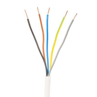 0.75mm 5 Core Flex Cable White 50m Drum 3185Y