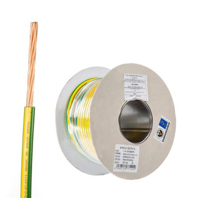 10mm Single Core Earth Cable 50m Drum 6491X