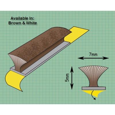 Exitex Self Adhesive Pile Draught Excluder Brown 5m