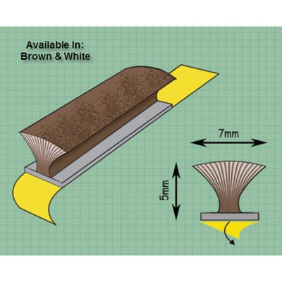 Exitex Self Adhesive Pile Draught Excluder Brown 5m