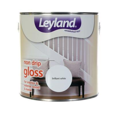 Leyland Liquid Non-Drip Gloss Brilliant White 2.5L