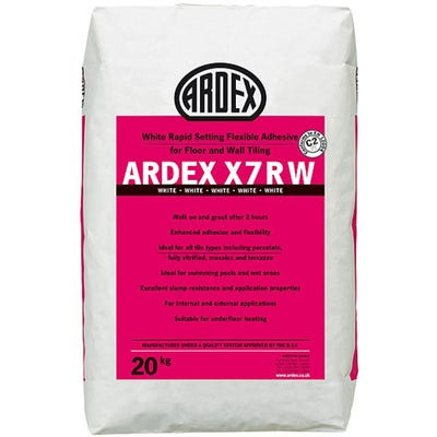 Ardex X7R White Rapid Set Tile Adhesive 20Kg