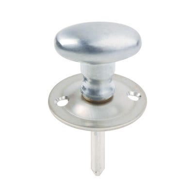 Turn Knob For Rack Bolt Satin Chrome