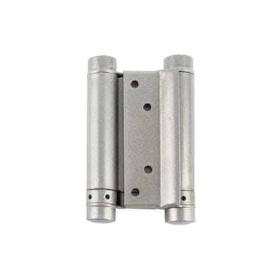 Double Action Spring Hinge 102mm Silver