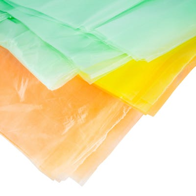 Coloured Polythene Dust Sheets 3.6m x 2.7m Pack of 3