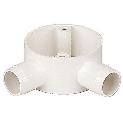 Conduit Box 2 Way Angled White 20mm