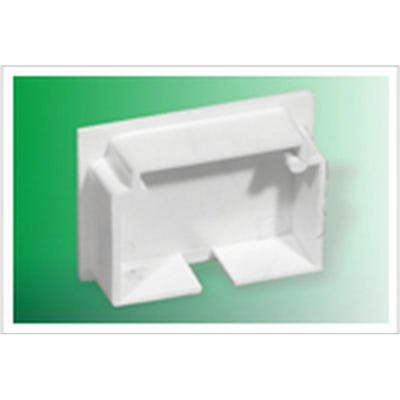 Mini Trunking Stop End White 16mm x 25mm