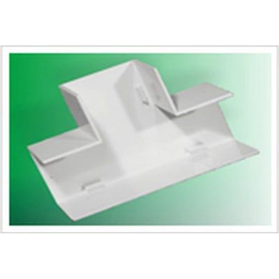 Mini Trunking Flat Tee Junction White 16mm x 25mm