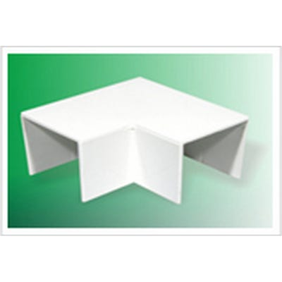 Mini Trunking Flat Angle White 16mm x 40mm
