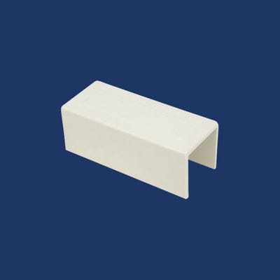 Mini Trunking Coupling White 16mm x 40mm