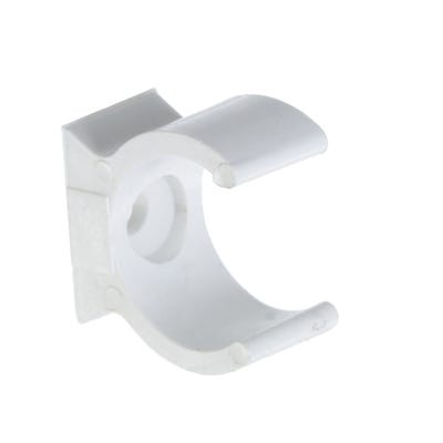 Round Conduit Clip White 20mm