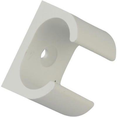 Oval Conduit Clip White 25mm