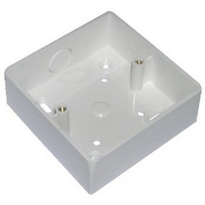 1 Gang 32mm Surface Pattress Moulded Box White