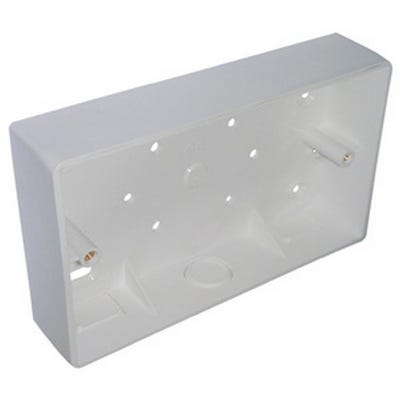 2 Gang 32mm Surface Pattress Moulded Box White