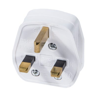 13A Plug White