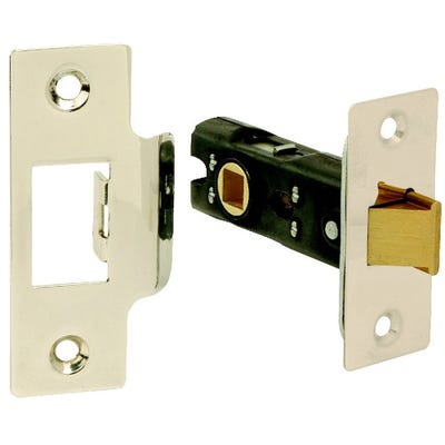 Dale 76mm Tubular Mortice Latch Polished Stainless Steel