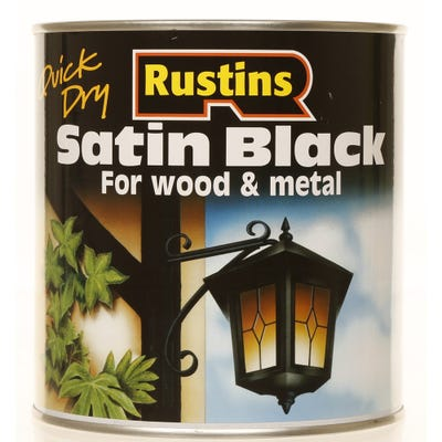 Rustins Quick Dry Satin Black Wood & Metal