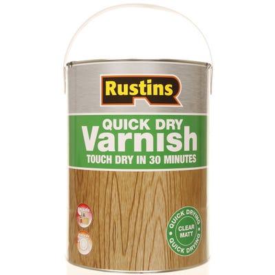 Rustins Quick Dry Varnish Matt Clear 5L