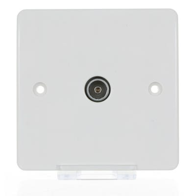 MK 1 Gang Co-Axial TV Socket K3551WHI