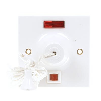 MK 50A DP Pull Cord Ceiling Switch & Neon 3164WHI