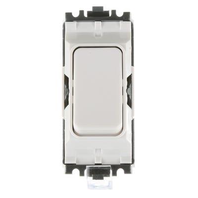 MK 10A 1 Way Switch Module Double Pole White K4981WHI
