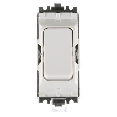 MK 10A 2 Way Switch Modules White K4882WHI