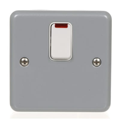 MK 20A Metal Clad Double Pole Switch With Neon K5232ALM