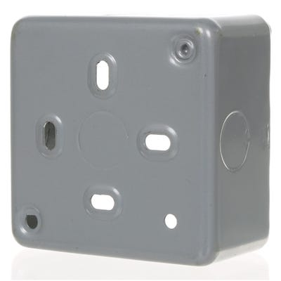 MK 46mm 1 Gang Metal Clad Back Box K8892ALM