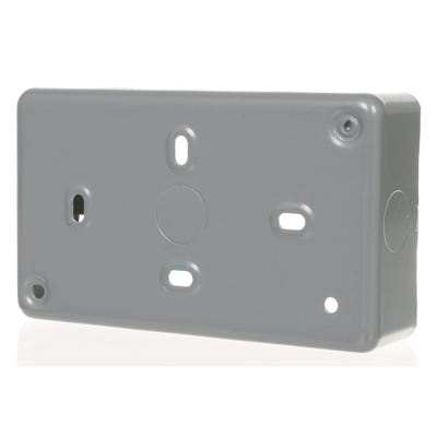MK 38mm 2 Gang Metal Clad Back Box K8892ALM