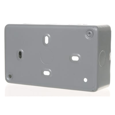 MK 46mm 2 Gang Metal Clad Back Box K8902ALM