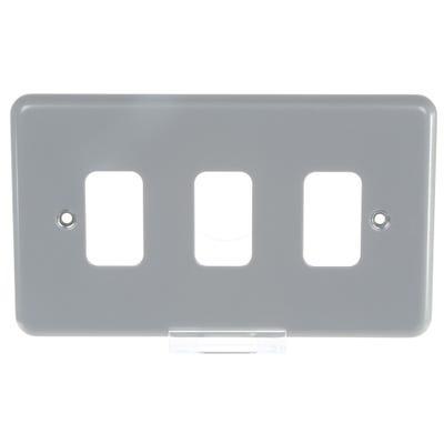 MK Grid Plus Frontplate 3 Module K3493ALM