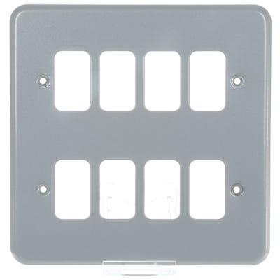 MK Grid Plus Frontplate 8 Module K3498ALM