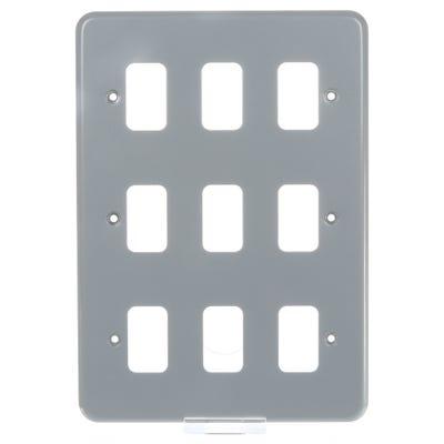 MK Grid Plus Frontplate 9 Module K3499ALM